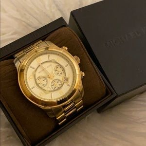 Michael Kors Gold Chronograph Watch Golden unisex